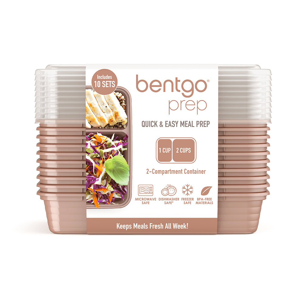 Bentgo Prep 2-Compartment Meal-Prep Containers