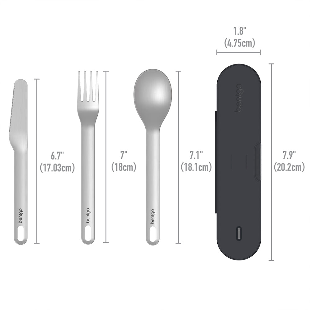 Bentgo Stainless Travel Utensil Set - Carbon