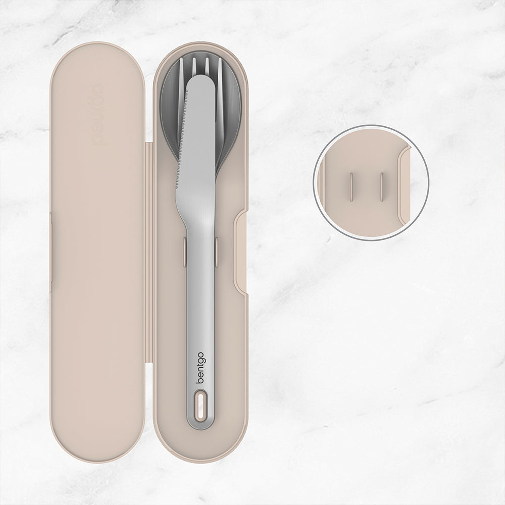 Bentgo Stainless Travel Utensil Set - Sand
