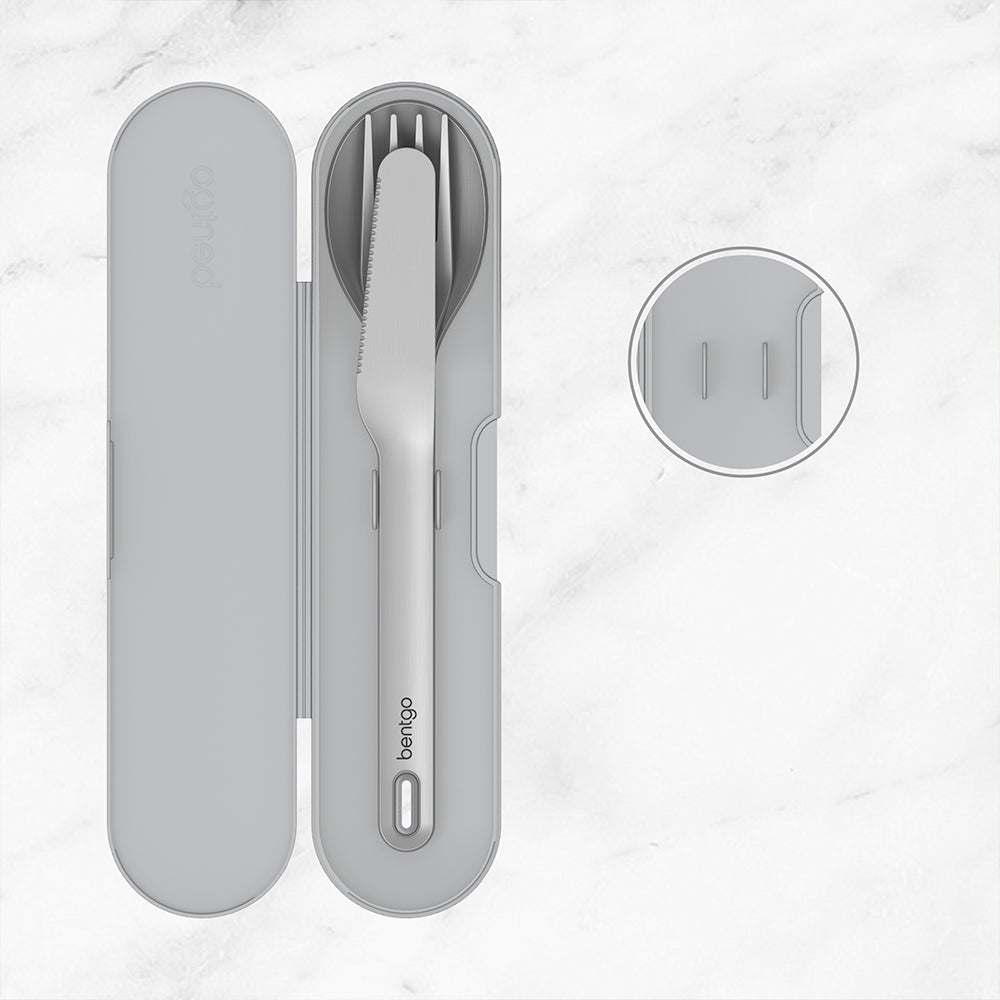 Bentgo Stainless Travel Utensil Set - Gray