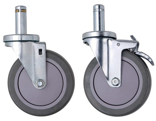 WR-00H Wire shelving wheels. Set of 4