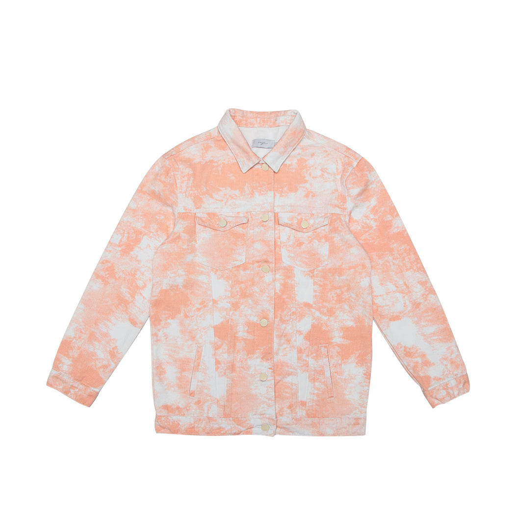 Tie Dye Orange Jacket