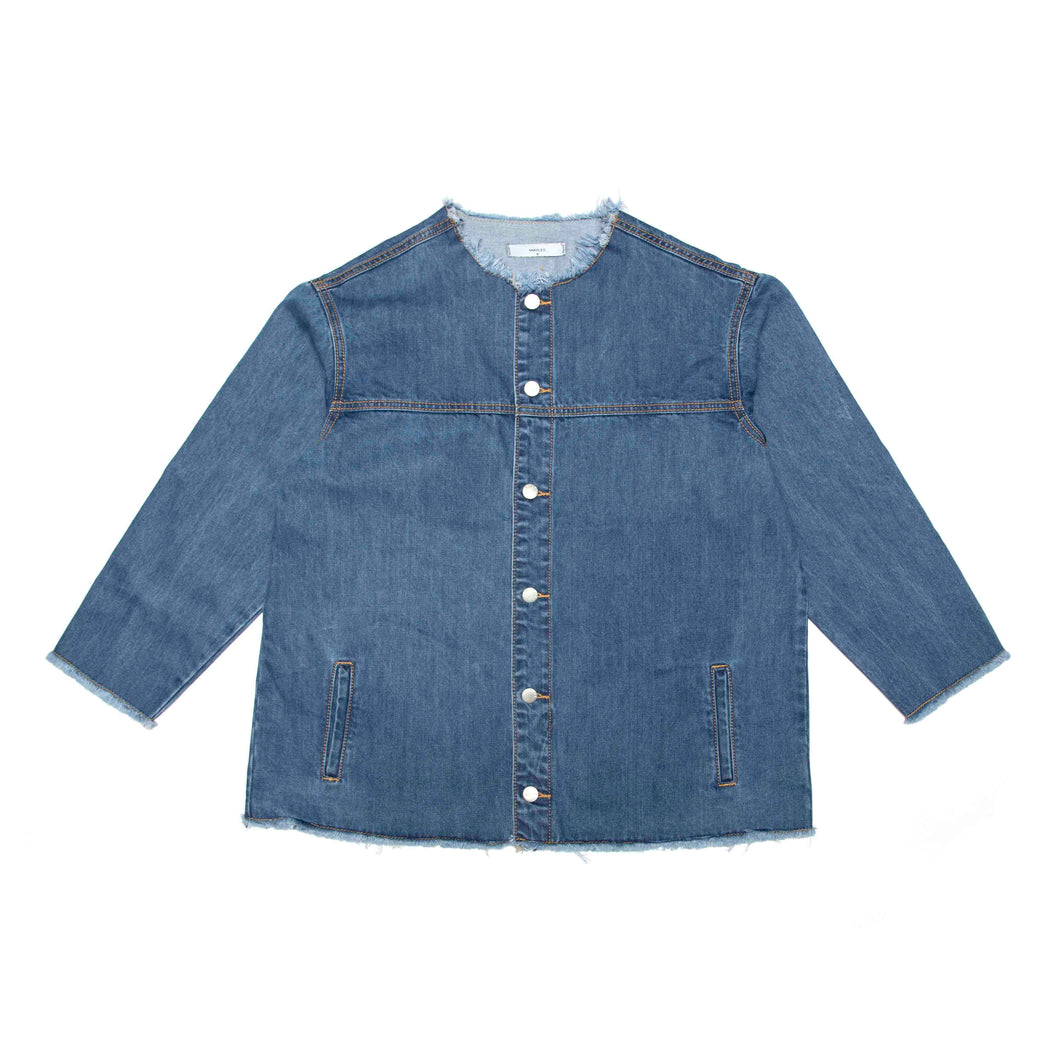 Raw Neck Denim Jacket