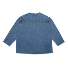 Load image into Gallery viewer, Raw Neck Denim Jacket