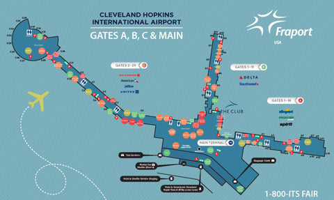 The Club CLE map