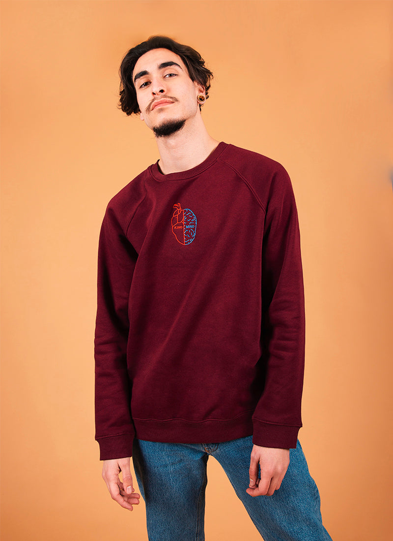 Kind Mind Sweatshirt Bordô