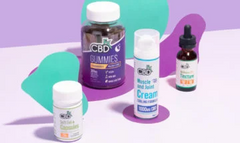 A group shot of CBDfx products