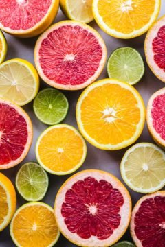 A group of citrus fruits