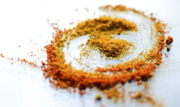 A pile of powdered spices
