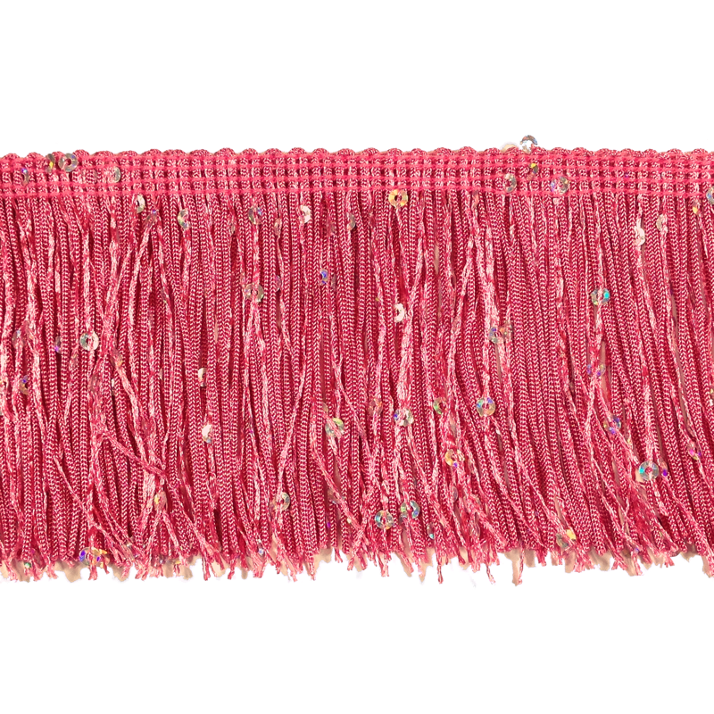 "Hot Pink - 3"" Hologram Sequin Fringe"