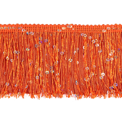"Orange - 3"" Hologram Sequin Fringe"