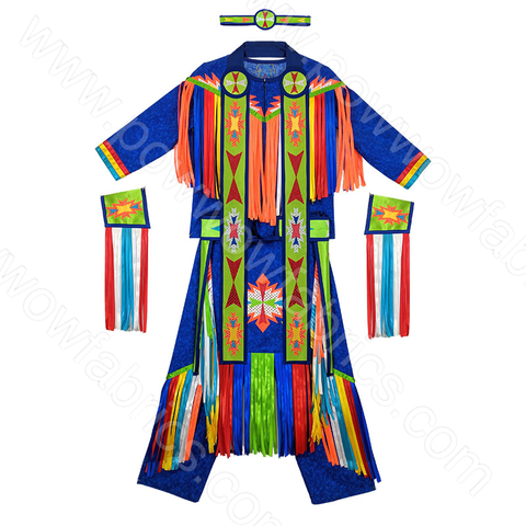 Boys 10-12 Grass Dance Outfit with Accessories