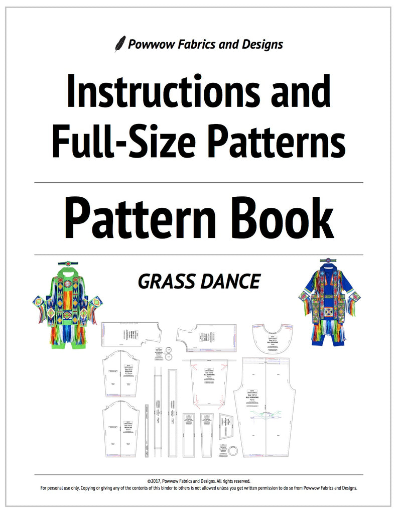 Boys Grass Dance Outfit Pattern Book