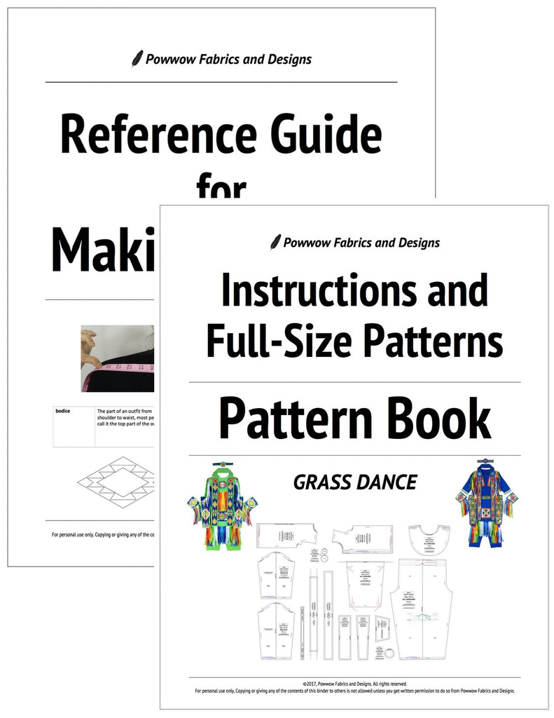 BUNDLE: Boys Grass Dance Outfit Pattern Book + Reference Guide for Making Regalia