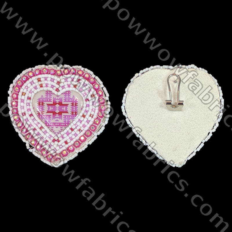 Cabochon Hearts - Bling Earrings