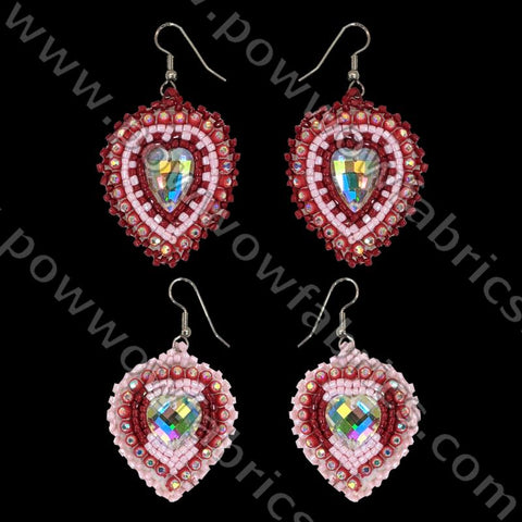 Chinese Crystal Hearts/Mother-Daughter Set - Bling Earrings