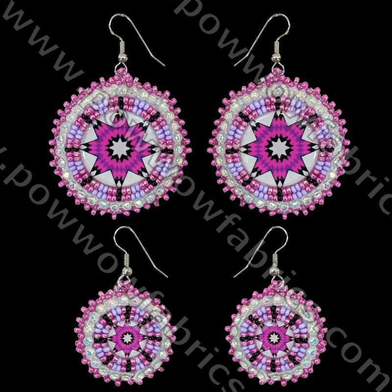 Cabochon Circle/Mother-Daughter Set - Bling Earrings