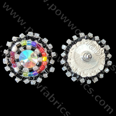 Clear AB Rivoli - Bling Earrings