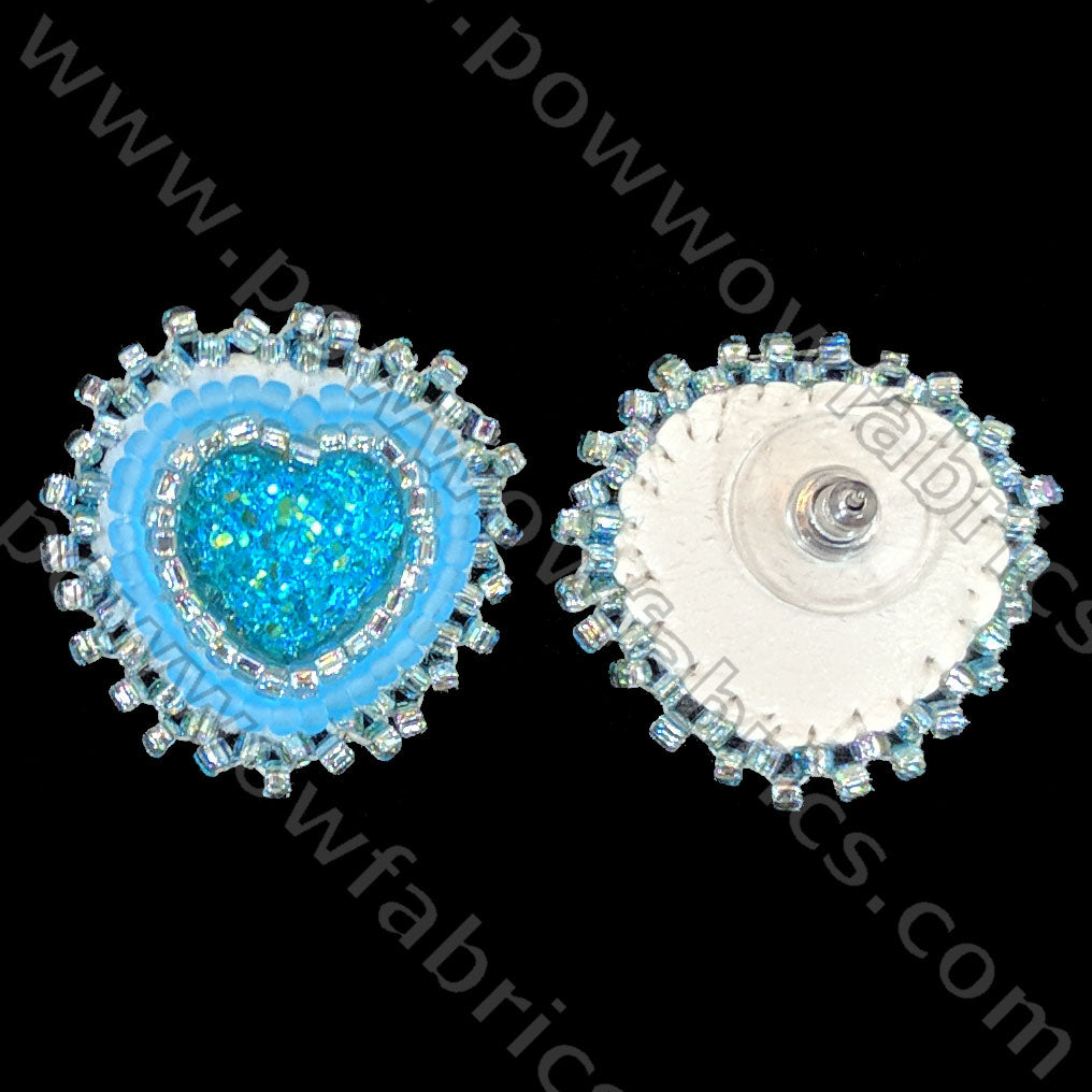 Turquoise Heart - Bling Earrings