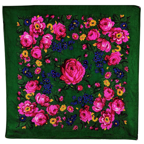 Emerald Green - Floral Scarves