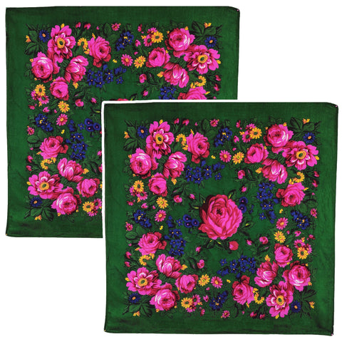 Emerald Green - Kookum Scarf Sets