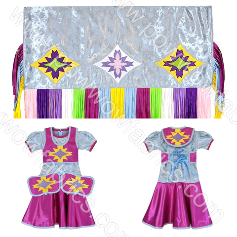 Girls 2-3 Fancy Shawl Outfit (Regular Cut)