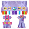 Girls 4-5 Fuller Cut Fancy Shawl Outfit