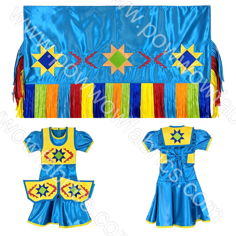 Girls 4-5 Fancy Shawl Outfit (Regular Cut)
