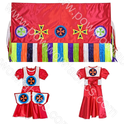 Girls 5-6 Fancy Shawl Outfit (Regular Cut)