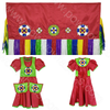 Girls 5-6 Fancy Shawl Outfit