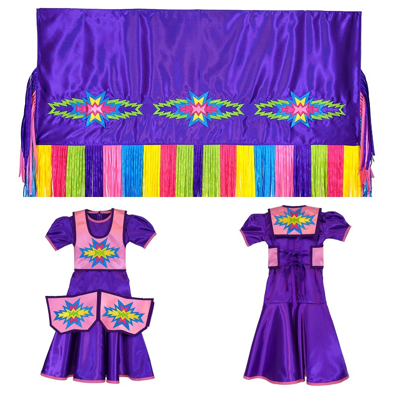 Girls 6-8 Fancy Shawl Outfit (Regular Cut)