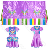 Girls 6-8 Fancy Shawl Outfit
