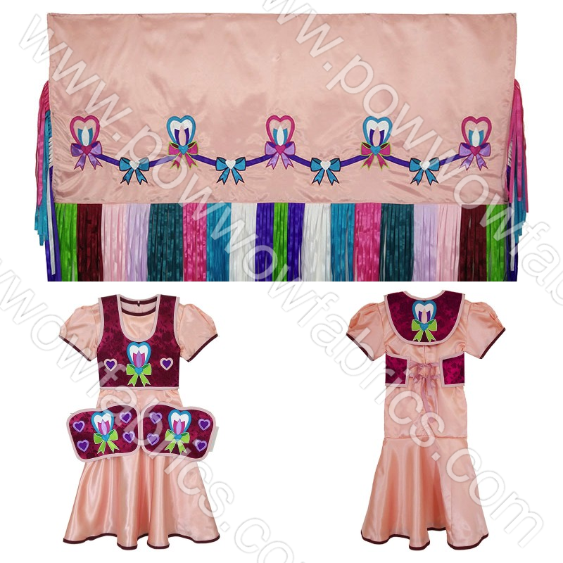 Girls 6-8 Full Cut Fancy Shawl Outfit
