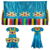 Girls 8-10 Fancy Shawl Outfit