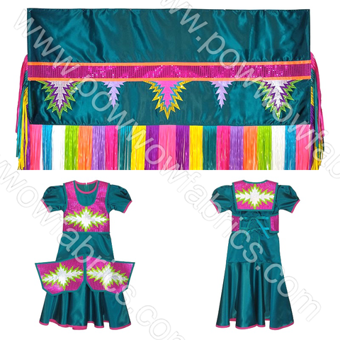 Girls 8-10 Fancy Shawl Outfit (Regular Cut)