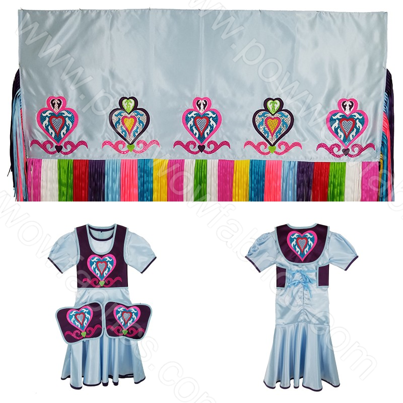 Girls 10-12 Fancy Shawl Outfit