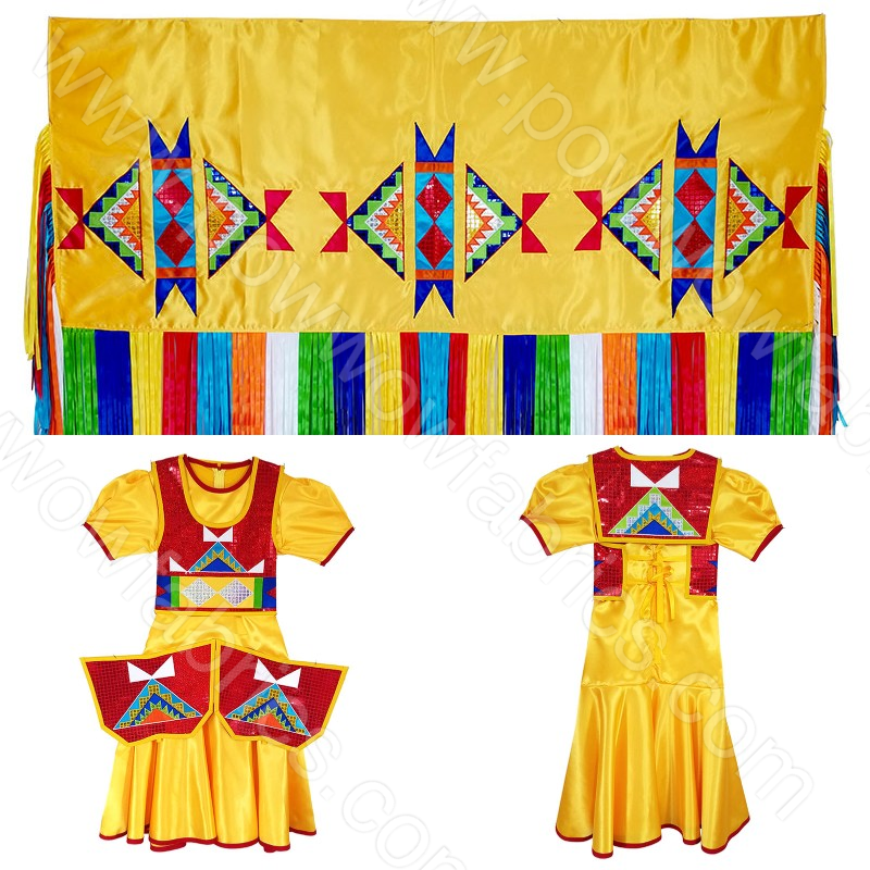 Girls 10-12 Full Cut Fancy Shawl Outfit