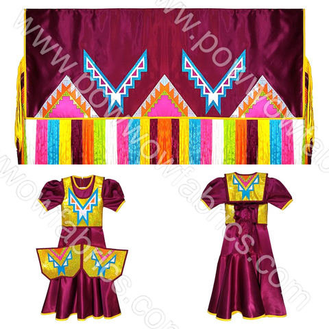 Girls 12-14 Fancy Shawl Outfit (Regular Cut)