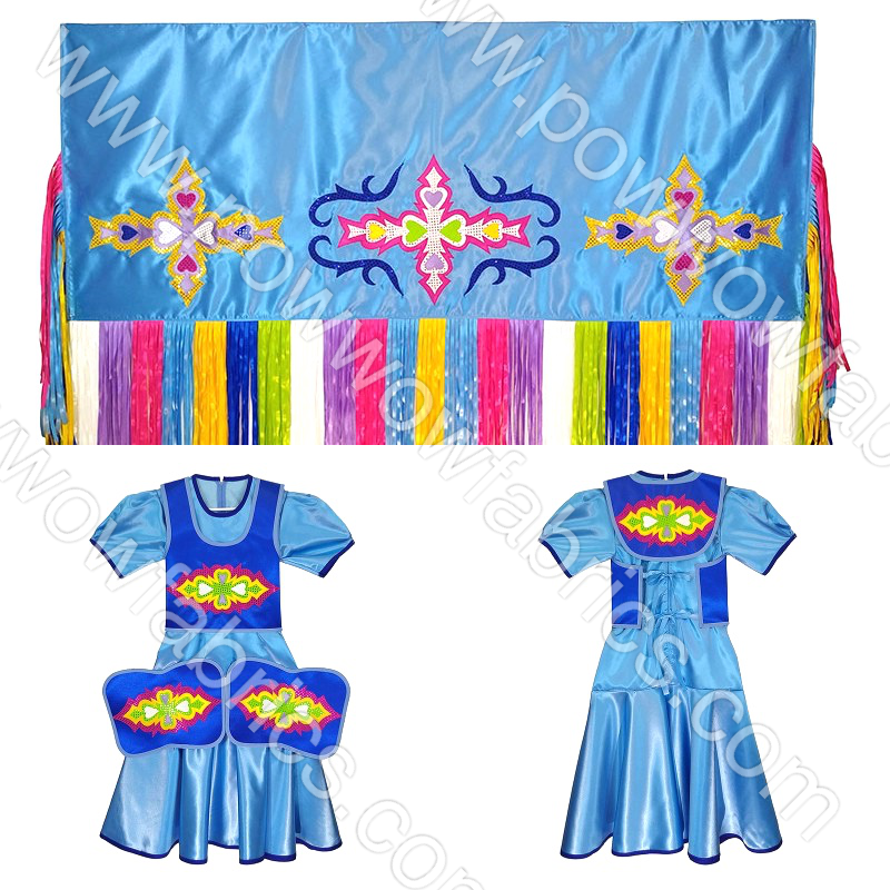 Girls 12-14 Fancy Shawl Outfit (Full Cut)