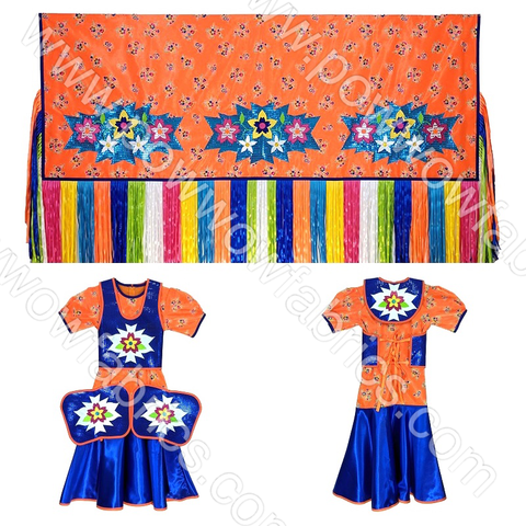 Girls 14-16 Fancy Shawl Outfit (Regular Cut)