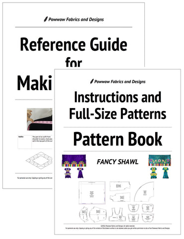 BUNDLE: Girls Fancy Shawl Outfit Pattern Book + Reference Guide for Making Regalia