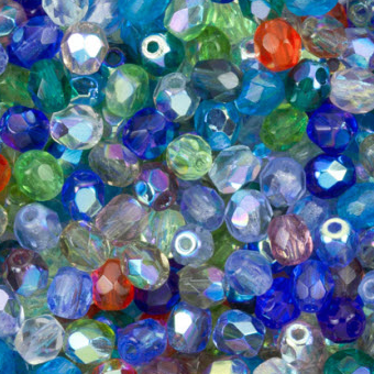Glass Fire Polished Beads