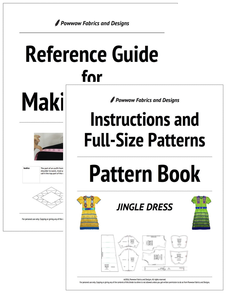 BUNDLE: Girls Jingle Dress Outfit Pattern Book + Reference Guide for Making Regalia