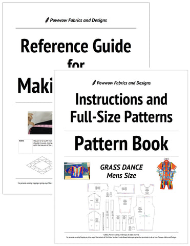 BUNDLE: Mens Grass Dance Outfit Pattern Book + Reference Guide for Making Regalia