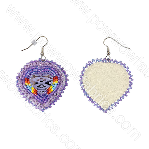 Heart (Mirror) - Bling Earrings