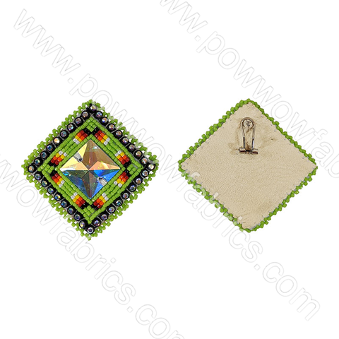 Square (Preciosa Center) - Bling Earrings