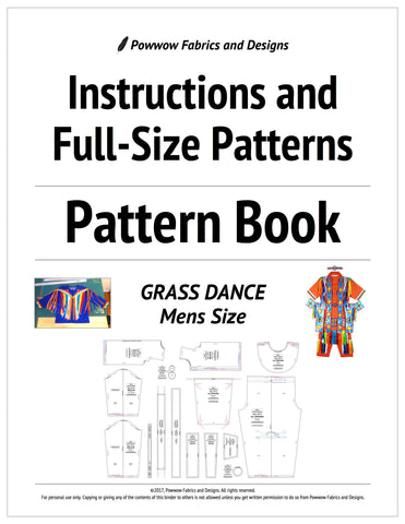 Mens Grass Dance Outfit Pattern Book