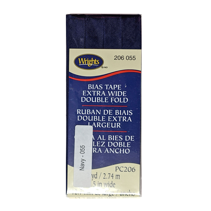 Navy - Bias Tape Double Fold Extra Wide