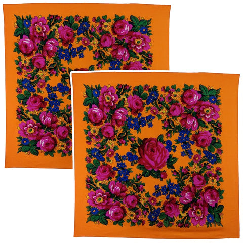 Orange - Kookum Scarf Sets
