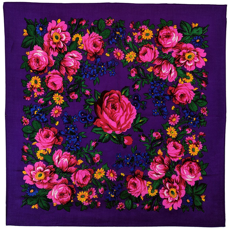 Purple - Floral Scarves